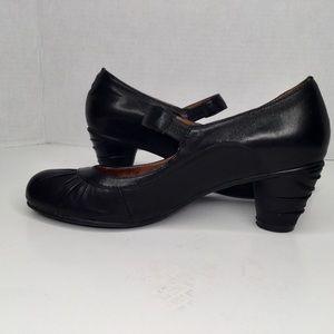 Miz mooz black heel mary jane soft leather shoes